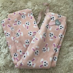 🆕RUE21 Fleece Bunny PJ Pants